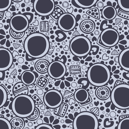 etnic: Seamless vector decorative hand drawn pattern. ethnic endless background with ornamental decorative elements with traditional etnic motives, tribal geometric figures.