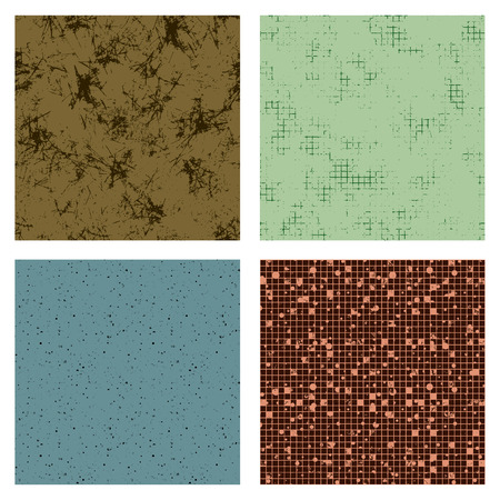 Set of seamless vector grunge texture. Old style vintage design. Graphic illustration. Grungy textured background with attrition, cracks and ambrosia.