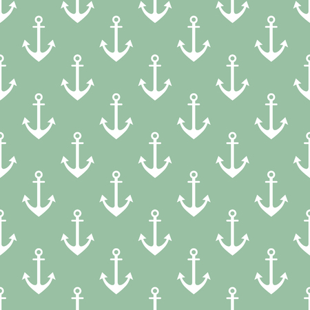 Vector seamless pattern with anchor. Symmetrical background, nautical theme. Graphic illustration. Template for wrapping, backgrounds, fabric, prints, decor, surface Illustration