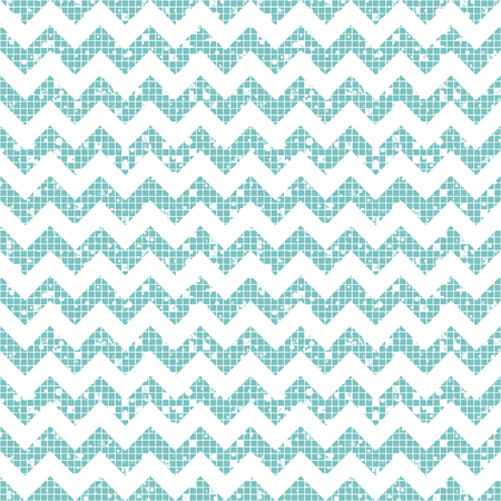 Seamless vector striped pattern. Blue geometric background with zigzag. Grunge texture with attrition, cracks and ambrosia. Old style vintage design. Graphic illustration.