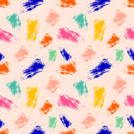 Vector seamless pattern, tile with inc splash, blots, smudge and brush strokes. Grunge endless template for web background, prints, wallpaper, surface, wrapping, repeat elements for design.