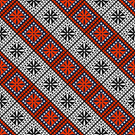 Seamless vector decorative hand drawn pattern. ethnic endless background with ornamental decorative elements with traditional etnic motives, tribal geometric figures. Print for wrapping, background