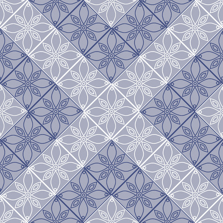etnic: Seamless vector decorative hand drawn pattern. ethnic blue endless background with ornamental decorative elements with traditional etnic motives, tribal geometric figures. Print for wrapping, background