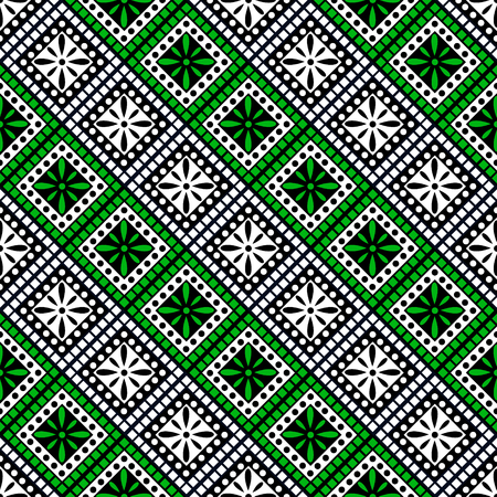 Seamless vector decorative hand drawn pattern.
