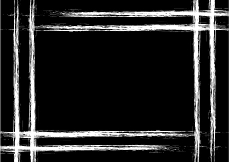 horizontal orientation: Vector drawn background with frame, border. Grunge black and white template with lines. Old style vintage design. Graphic illustration. a4 size format, horizontal orientation