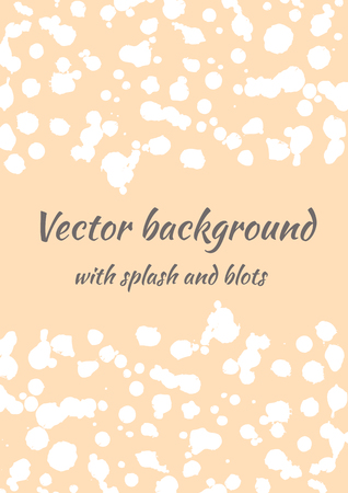 Vector watercolor background with ink blots, splash and brush strokes. Colorful creative artistic template for card, layout, cover. Illustration