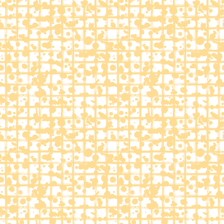 Vector seamless pattern, tile with inc splash, blots, smudge and brush strokes, lines. Grunge endless template for web background, prints, wallpaper, surface, wrapping, repeat elements for design. Illustration