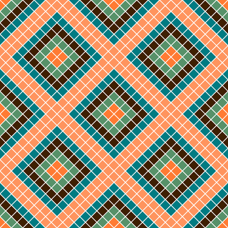 Seamless vector decorative geometric pattern. ethnic endless background with ornamental decorative elements with traditional etnic motives, tribal geometric figures. Print for wrapping, background
