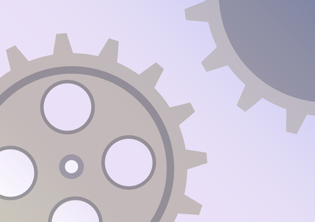 Vector illustration of gear wheel abstract background. transparent banner with clockwork. EPS10. Illustration