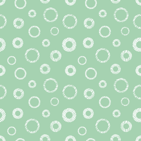 Seamless vector geometrical pattern with circles pastel endless background with hand drawn textured geometric figures. Graphic illustration, print for wrapping, background, cover, surface
