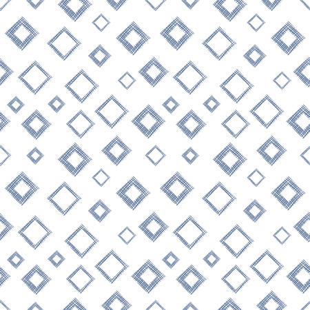 linen: Seamless vector geometrical pattern with rhombus, squares. endless background with hand drawn textured geometric figures. Pastel Graphic illustration Template for wrapping, web backgrounds, wallpaper Illustration