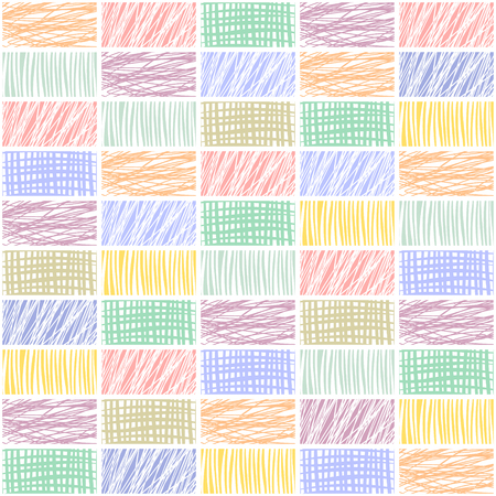 Seamless vector geometrical pattern with rhombus, squares. endless background with hand drawn textured geometric figures. Pastel Graphic illustration Template for wrapping, web backgrounds, wallpaper Vektorové ilustrace