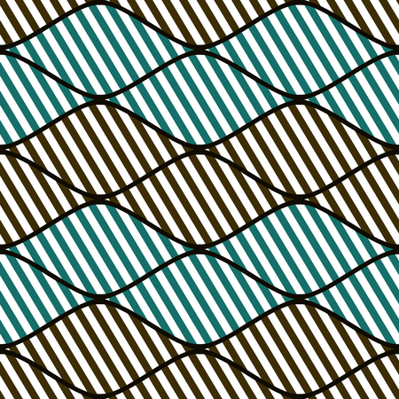 Seamless vector abstract pattern. symmetrical geometric repeating background with decorative rhombus. Simle graphic design for web backgrounds, wrapping, surface, fabric Illustration