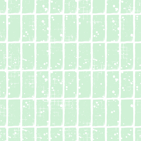 attrition: Seamless vector checkered pattern. Creative geometric pastel background with rectangles. Grunge texture with attrition, cracks and ambrosia. Old style vintage design. Graphic illustration. Illustration