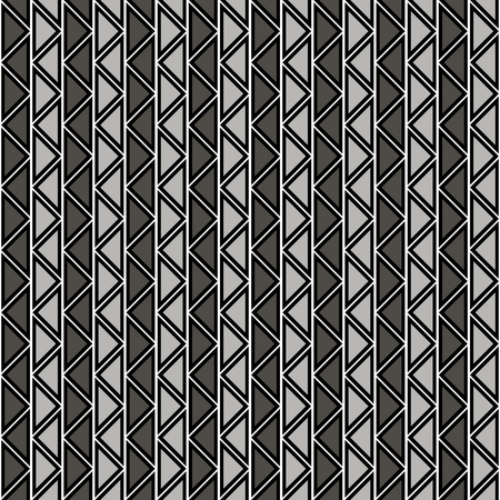 crankle: Seamless vector abstract zig zag pattern. symmetrical geometric repeating background with decorative rhombus, triangles. Simle graphic design for web backgrounds, wallpaper, wrapping, surface, fabric Illustration