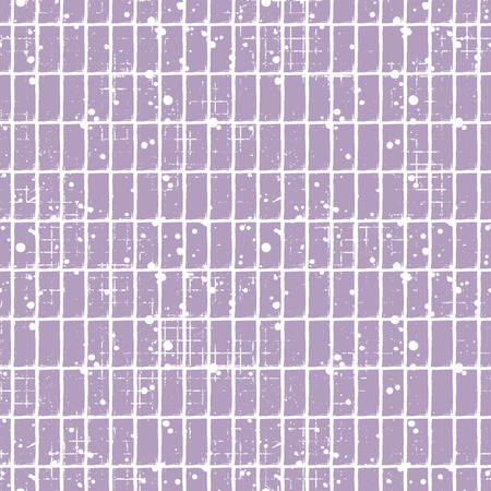 Seamless vector checkered pattern. Creative geometric pastel background with rectangles. Grunge texture with attrition, cracks and ambrosia. Old style vintage design. Graphic illustration. Vektoros illusztráció