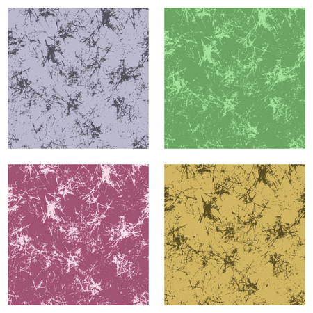 attrition: Set of seamless vector textures. Grunge background with attrition, cracks and ambrosia. Old style vintage design. Graphic design Illustration