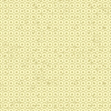 Seamless vector grunge pattern. Creative geometric background with screw nut. Grunge texture with attrition, cracks and ambrosia. Old style vintage design. Graphic vector illustration. Illustration