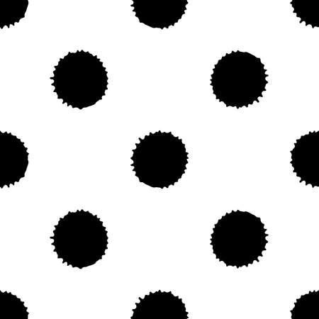 Naadloos patroon, tegel met inc splash, vlekken, vlekken en penseelstreken. Het eindeloze malplaatje van Grunge voor Webachtergrond, drukken, behang, oppervlakte, het verpakken, herhaalt elementen voor ontwerp. Vector Illustratie