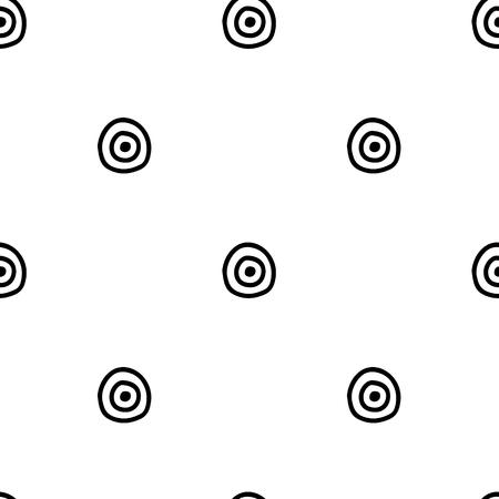 Motif géométrique vectorielle continue avec des éléments décoratifs dessinés à la main. Conception graphique, illustration de dessin. Impression pour tissu, textile, papier peint, emballage, emballage. Style doddle, Vecteurs