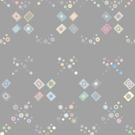 Seamless vector pattern. geometrical background with hand drawn decorative tribal elements. Print with ethnic, folk, traditional motifs. Graphic geometric illustration for wrapping, wallpaper, fabric