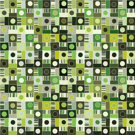 Seamless vector pattern. Textured geometrical drawn background with figures, squares, circle, dots lines, rectangles. Print for background, wallpaper, packaging wrapping fabric Graphic abstract design