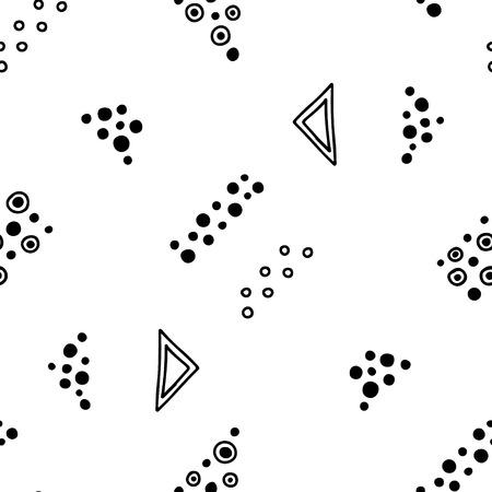 Motif géométrique vectorielle continue avec des éléments décoratifs dessinés à la main Conception graphique abstraite, illustration de dessin. Impression pour tissu, textile, papier peint, emballage d'emballage Dessin au trait Style Doddle Vecteurs