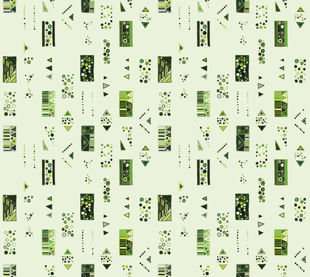 Seamless vector geometrical pattern with hand drawn decorative elements Graphic abstract design, drawing illustration. Print for fabric, textil, wallpaper, wrapping packaging Doddle style