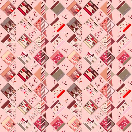 Motif géométrique vectorielle continue avec des éléments décoratifs dessinés à la main Conception graphique abstraite, illustration de dessin. Impression pour tissu, textile, papier peint, emballage d'emballage Style Doddle Vecteurs