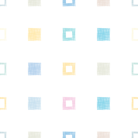 Seamless vector pattern, repeating geometrical background with recnangles, square. Pastel colors. Graphic design, Illustration. Print for wrapping, fabric, textile, wallpaper, packing,