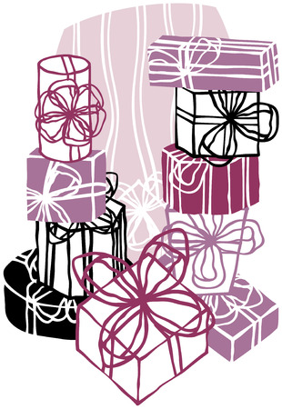 gift wrapped: big pile of different gifts