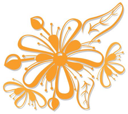 lindeboom: mooie oranje bloemen van linden