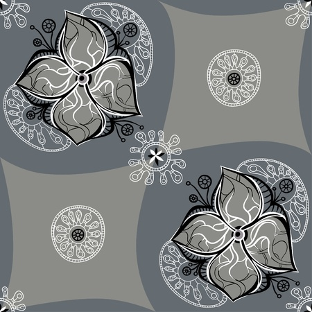 beautiful flower pattern with delicate lace decoration Vector