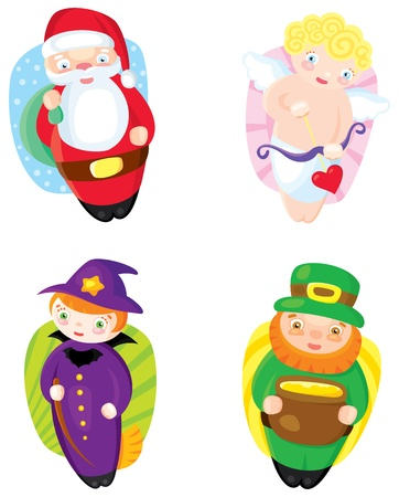 four colored holiday icons. Vector. Illustration Stock Vector - 17420317