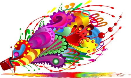 Abstract colorful paint splash Stock Vector - 11561842
