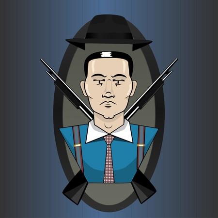 whacked: Mafia emblem Illustration