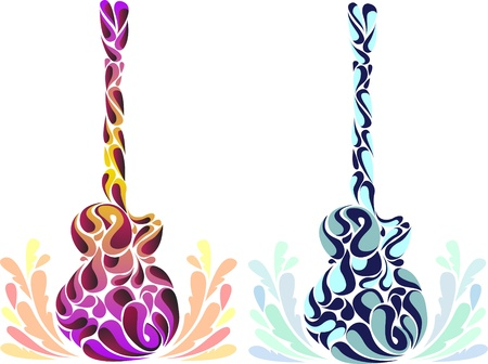 Abstract guitars Vector