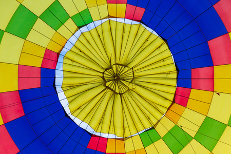 Bottom view from the inside at the multicolored balloon dome Фото со стока