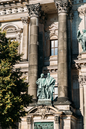 Facade from the Berlin Cathedral, Berliner Dom in spring Editorial