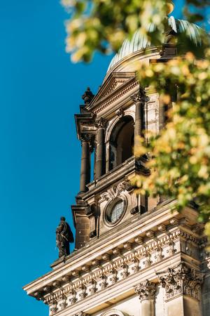 Facade from the Berlin Cathedral, Berliner Dom in spring Banco de Imagens