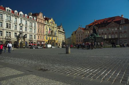 square: Old Town Square Stock Photo