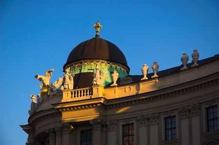 Detail of the roof of the Hofsburg Palace in Vienna Imagens