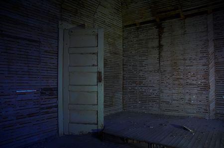 Spooky door opening to the unknown. 版權商用圖片