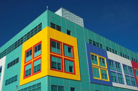 Modern hospital for the treatment of sick children in Calgary Alberta. photo