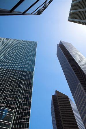Skyscrapers towering over Calgary Alberta Canada. 版權商用圖片
