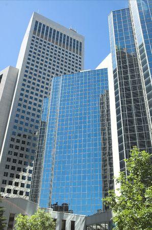 Skyscrapers towering in Calgary Alberta.