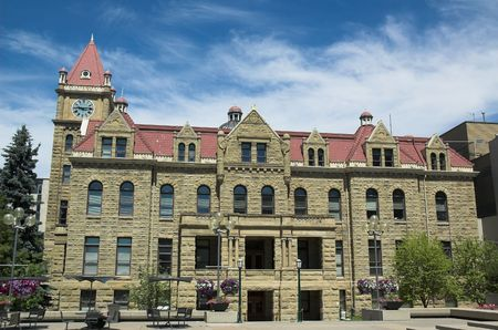 The old stone city hall in Calgary.