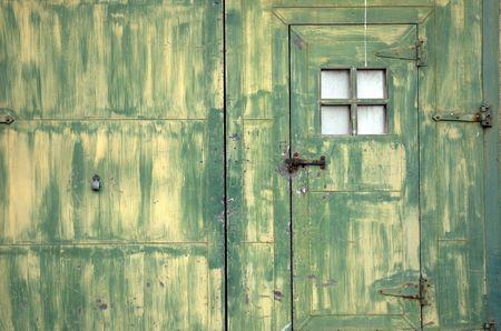 Old green door Stok Fotoğraf