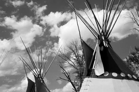 tepee: Blackfoot tepee in Calgary Alberta  Stock Photo
