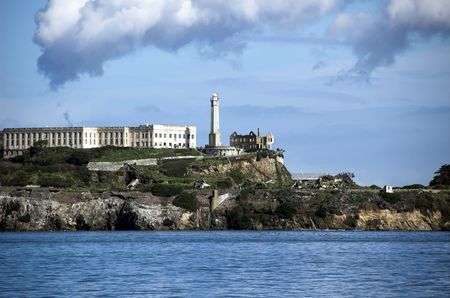 Alcatraz Island - The Rock - A famous prison in San Francisco Bay Stock Photo